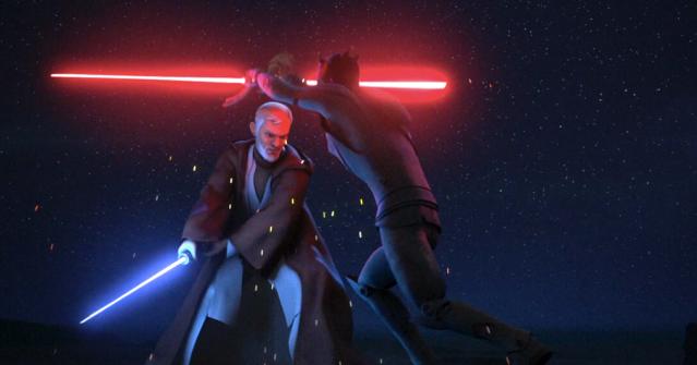 Darth Maul battles Obi-Wan Kenobi in Rebels | Disney XD