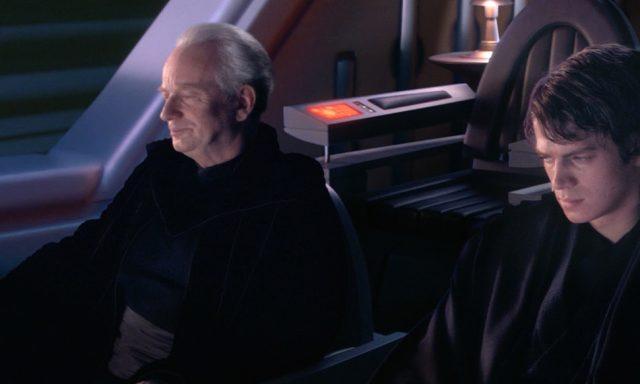 Palpatine tells Anakin about Darth Plagueis.